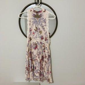 NWOT Free People Blush Floral Tank High Neck Dress